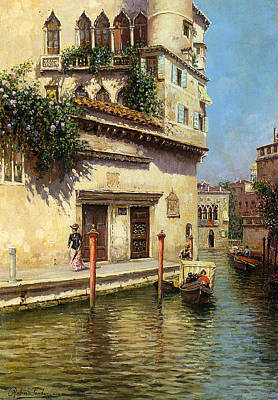 A Venetian Backwater Poster