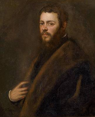 A Venetian Patrician Poster by Tintoretto