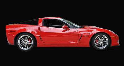 A Very Red Corvette Z6 Poster