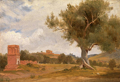 A View At Girgenti In Sicily With The Temple Of Concord Poster by Litz Collection