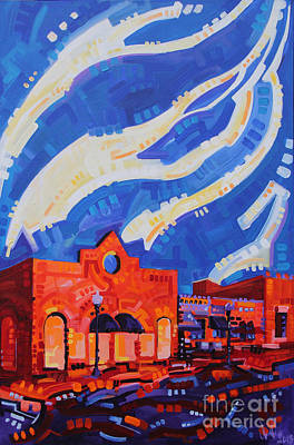 A View From Gallery U Red Bank Poster by Michael Ciccotello
