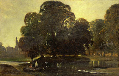 A View Of Eton And The Fellows Eyot, William James Muller Poster by Litz Collection