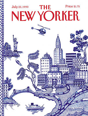 A View Of New York City Poster by Pamela Paparone