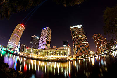 A View Of Tampa And The Hillsborough River Poster by Daniel Woodrum