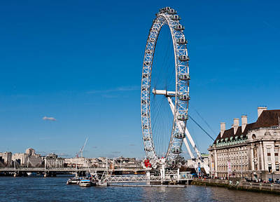 A View Of The London Eye Poster