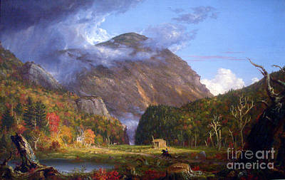 A View Of The Mountain Pass Called The Notch Of The White Mountans By Thomas Cole Poster