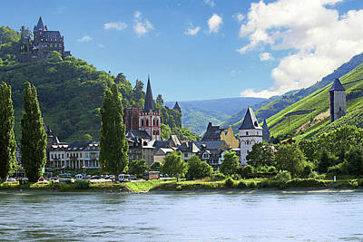 A View Of The Village Of Bacharach Poster by Miva Stock