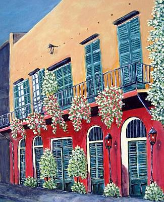 Poster featuring the painting A Visit To New Orleans by Suzanne Theis