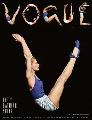 A Vogue Magazine Cover Of Lisa Fonssagrives Poster