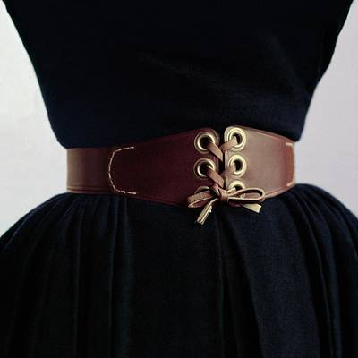 A Waist Cinched By A Leather Belt Poster by Richard Rutledge