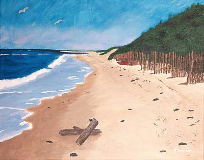 Poster featuring the painting A Walk In Nantucket by Cynthia Morgan