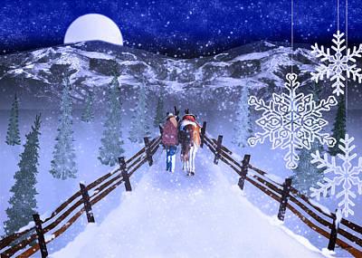 A Walk In The Snow 2 Poster by Mechala  Matthews