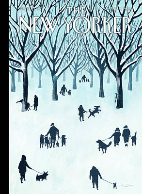 A Walk In The Snow Poster by Mark Ulriksen