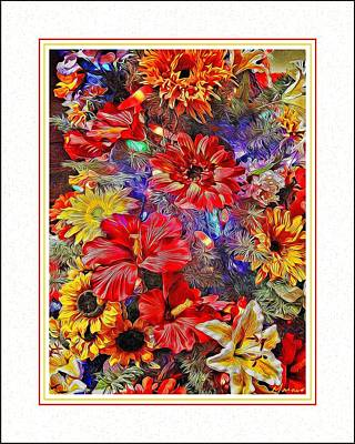 A Wall Of Flowers Poster by Barry Monaco