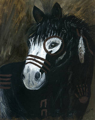 Poster featuring the painting A War Pony by Barbie Batson
