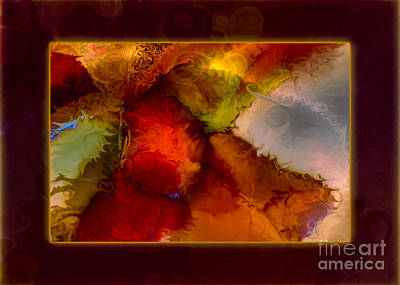 A Warrior Spirit Abstract Healing Art Poster