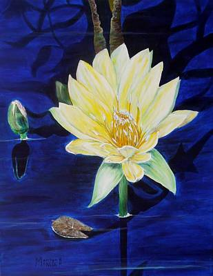Poster featuring the painting A Waterlily by Marilyn  McNish