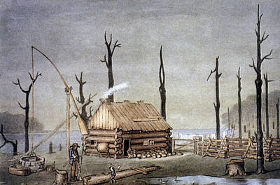A Western Farm Site, 1822 Poster by Granger