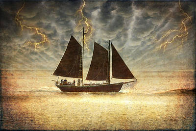 A Wicked Sail Poster by Bill Tiepelman