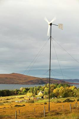 A Wind Turbine In Scoraig Poster by Ashley Cooper