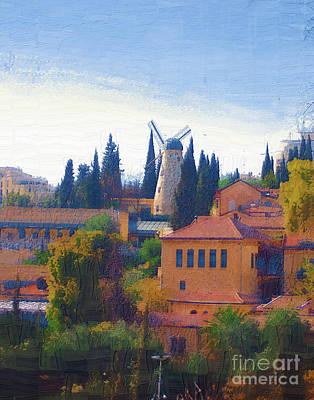A Windmill In Jerusalem Poster