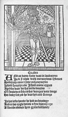 A Winged Male Figure Poster