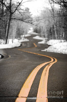 Poster featuring the photograph A Winter Drive Over A Winding Road by Mark David Zahn