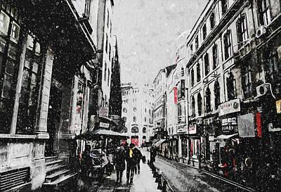 A Winter Scene Poster by Taylan Apukovska