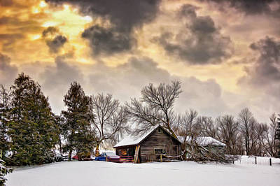 A Winter Sky - Oil Poster by Steve Harrington