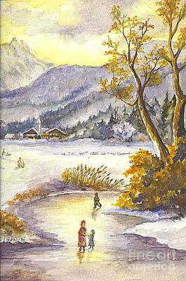 Poster featuring the painting A Winter Wonderland Part 2 by Carol Wisniewski