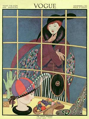 A Woman At A Shop Window Poster by George Wolfe Plank