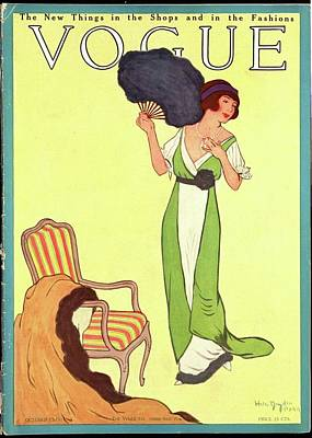 A Woman Carrying A Fan Poster by Helen Dryden