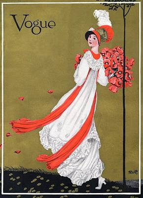 A Woman Holding Poppies Poster by George Wolfe Plank