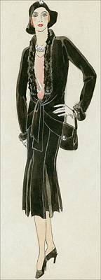 A Woman Wearing A Black Suit Poster by David