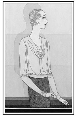 A Woman Wearing A Blouse And Skirt From Chantal Poster by Douglas Pollard