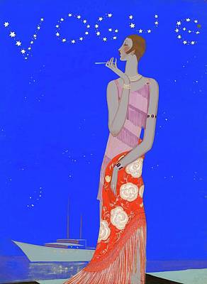 A Woman Wearing A Flapper Dress Poster by Eduardo Garcia Benito