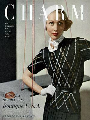 A Woman Wearing A Outfit By Joseph Guttmann Poster by  Balkin - Studio Associates