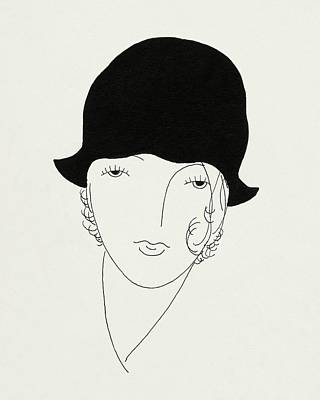 A Woman Wearing A Poorly Fitted Hat Poster by Jean Pages