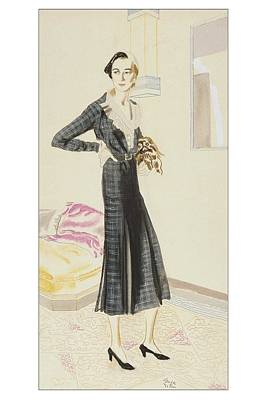 A Woman Wearing A Saks-fifth Avenue Suit Poster by R.S. Grafstrom