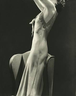 A Woman Wearing A Satin Gown Poster by Lusha Nelson