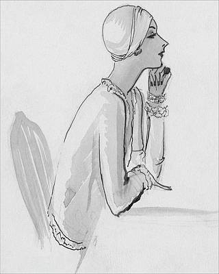 A Woman Wearing A Turban Poster by Porter Woodruff