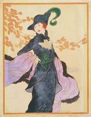 A Woman Wearing Blue Poster by Helen Dryden