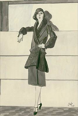 A Woman Wearing Designer Clothing Poster