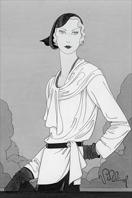 A Woman Wearing Designer Clothing Poster by Douglas Pollard