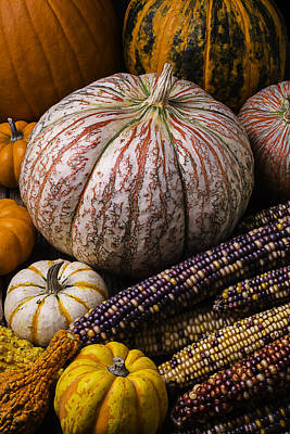 A Wonderful Autumn Harvest Poster by Garry Gay