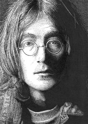 A Word Portrait Of John Lennon Poster by Timothy Glasby