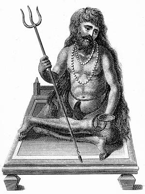 A Yogi Meditating Poster by Universal History Archive/uig