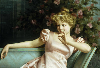 A Young Beauty Poster by Vittorio Reggianini