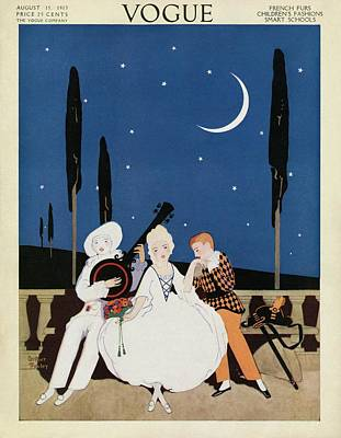 A Young Woman Being Serenaded Poster