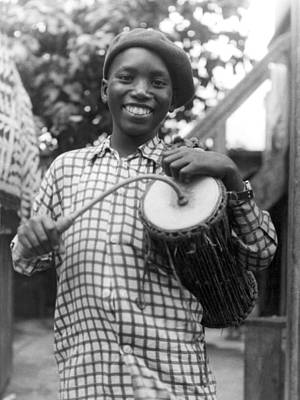A Young Yoruba Drummer Poster by Underwood Archives